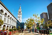 Famous Ferry Building On April 24, 2014 In San Francisco, California