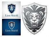 Lion on a Shield - This design suitable for any company or organization looking for a strong corpora
