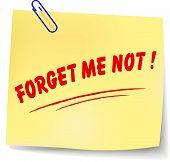Forget Me Not Message Illustration