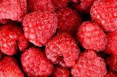 Photo Of Fresh Macro View Raspberries Background