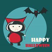 image of dracula  - Happy Halloween greeting card - JPG
