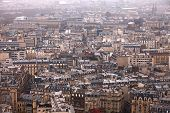 View over Paris from above
