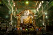 The Seated Buddha Presiding In Soon U Pone Nya Shin Paya,Myanmar.