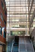 Staircase between corporate buildings