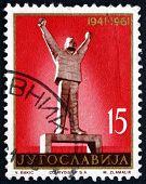Postage Stamp Yugoslavia 1961 Statue Of Stevan Filipovic, Valjev