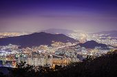Busan, South Korea cityscape.