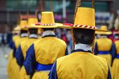 pic of guardsmen  - Royal guards at Deoksu Palace in Seoul - JPG