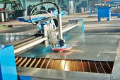 Industrial laser or plasma cutting processing manufacture technology of flat sheet metal steel mater