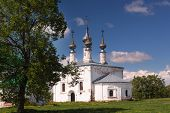 Church of the Entrance of the Lord into Jerusalem in Suzdal, Russia. The church was built in 1707