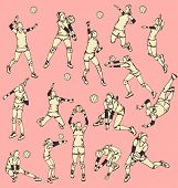 Woman Volley Ball Action Sport