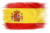Spanish flag on plain background