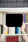 Hands Showing Blank Screen Tablet