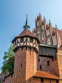 Teutonic castle in Malbork, Pomerania region, Poland