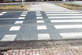 The bike path marked