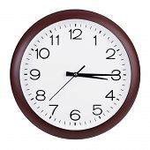 Clock Shows Fifteen Minutes Of The Fourth