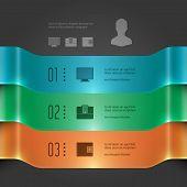 Modern Vector Infographics Template. 3D Banners Chart Diagram.
