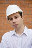 Portrait Of  Man In Hardhat