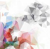 Pastel Polygonal Mosaic Background, Vector Illustration,  Business Design Templates