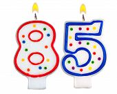 Birthday Candles Number Eighty Five