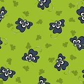 abstract clover seamless pattern