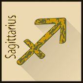 Sagittarius Zodiac sign vector illustration