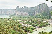 Panorama Of Beatiful Railay Bay From Viewpoint (krabi, Thailand)