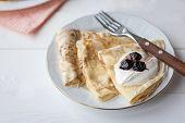 Breakfast With Pancakes, Jam, Honey
