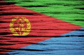 pic of eritrea  - Eritrea Flag on old wood texture background - JPG