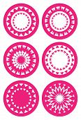 Abstract Circle Pattern Vector Illustration