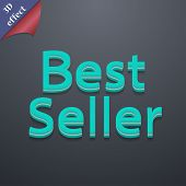 Best Seller Icon Symbol. 3D Style. Trendy, Modern Design With Space For Your Text Vector