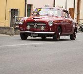 OLD CAR FIAT 1100 103 TV coupé Pinin Farina 1954 MILLE MIGLIA 2014