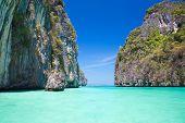 Maya bay, Phi-Phi Le island, Thailand.