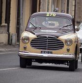 OLB CAR Moretti750 S berlinetta Alger le Cap 1953 MILLE MIGLIA 2014