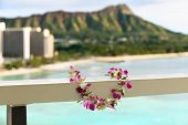 picture of waikiki  - Hawaii travel icon - JPG