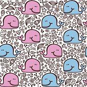 Love whale pattern