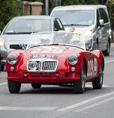 old car MG A mille miglia 2014
