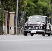 old car FIAT 1100/103 di berlina 1957 mille miglia 2014