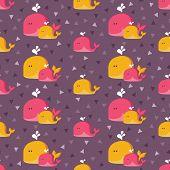 Whales flat pattern