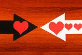 Heart Shapes And The Arrows
