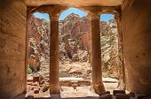 Carved Into The  City Of Petra