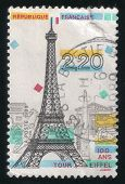 Commemorative Drawing Of Tour Eiffel. French Post Stamp 1989