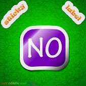 No Norway Translation Icon Sign. Symbol Chic Colored Sticky Label On Green Background. Vector