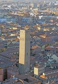 Fantastic Panoramic Views Of The City Of Bologna In Italy