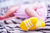 picture of foot  - bare feet baby baby foot the feet of a little girl - JPG