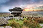 The Cheesewring A Rock Formation On Bodmin Moor