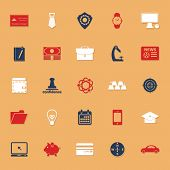 Businessman Item Classic Color Icons With Shadow