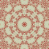 Abstract seamless pattern in red with circle shapes