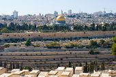 image of aqsa  - The dome of the rock as seen from the mount of olives - JPG
