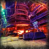 pic of blast-furnace  - metallurgical blast furnaces iron production industrial background - JPG