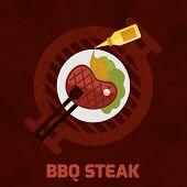 Bbq Steak Poster